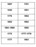 MIX AND MATCH US HISTORY IMPORTANT DATES STAAR REVIEW CARDS