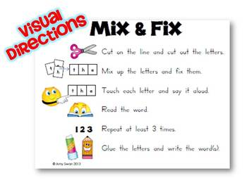 MIX & FIX Sight Word Mini-Book - Dolch Primer CCSS Aligned & Differentiated