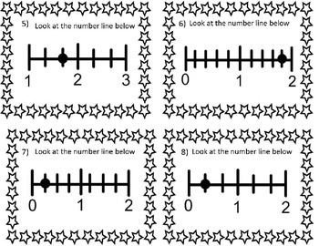 MIXED NUMBERS ON A NUMBER LINE MATCH