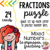 MIXED TO IMPROPER FRACTION PUZZLE (LEVEL 1)