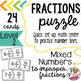 MIXED TO IMPROPER FRACTION PUZZLE (LEVEL 2)