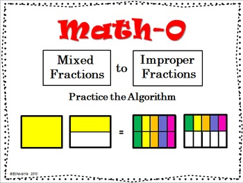 MIXED to IMPROPER FRACTIONS, Practice the Algorithm