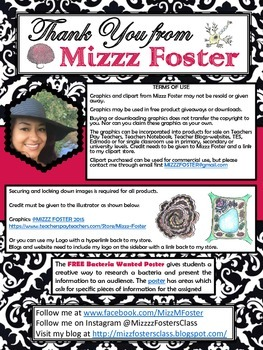 MIZZZ FOSTER Clip Art Terms of Use