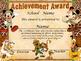 Mickey Safari Achievement Award English & Spanish version Editable!!!!