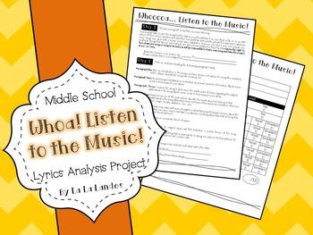 Lyrics Project- Whoa! Listen to the Music- Lyric Analysis Project