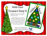 MIddle Sound Short Vowel Christmas Tree Ornament Bump It Game