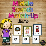 Middle Sounds Match Up Game, Vowels, Literacy Centers, Beginning of Year