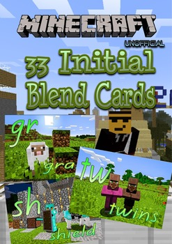 Minecraft themed Initial Blend Posters - A3 Poster and Individual cards