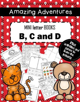MIni Letter Books B, C and D with games, writing and activities