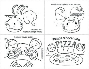Minibook Series in Spanish: Food (Vamos a hacer una pizza)