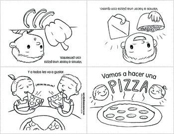 Minibook Series in Spanish: Food (Vamos a hacer una pizza)