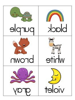 Color Words and Number Words FREEBIE! Mirror, Mirror! Fun way to practice