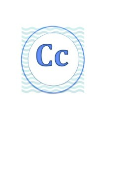 MIssing Letter C to Ocean Word Wall
