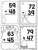 Mixed Regrouping Addition and Subtraction Scoot Math Game Freebie!