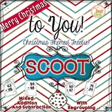 Christmas Mixed Regrouping Addition and Subtraction Scoot Math Game Freebie!