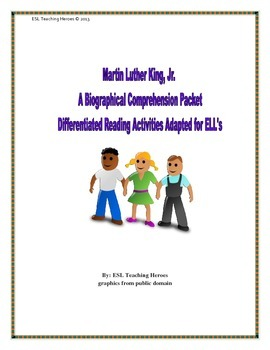 M.L. King, Jr.: A  Biographical Close Read: Differentiated for ESL