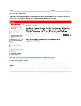 mla 8 citation assignment