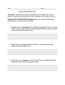 mla 8 citation assignment 2