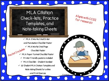 MLA 8 Formatting Checklists and Citation Templates