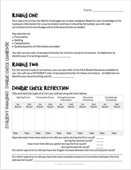 MLA 8 Works Cited MLA Format Practice- 90 Practice Pages and 5 Lesson Choices!