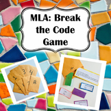 MLA: Break the Code Game (Engaging game to teach and practice MLA Format!)
