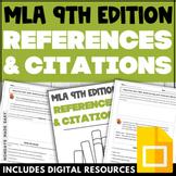 MLA CITATIONS WORKSHEETS Digital MLA 9 Format Activity and