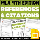 MLA CITATIONS WORKSHEETS MLA 9 Assessment and High School