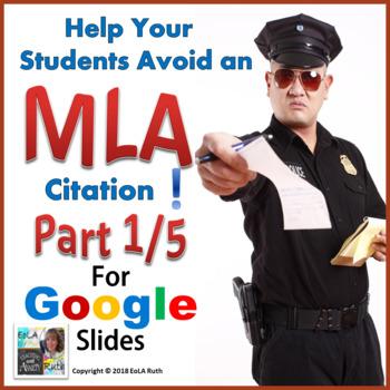 MLA Citation 1/5 | Digital Notebook for Google Slides