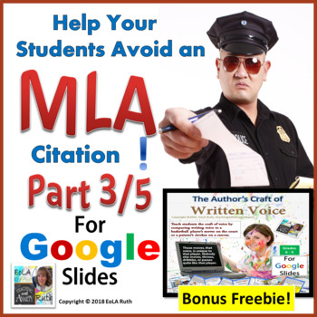 MLA Citation 3/5 | Digital Notebook for Google Slides