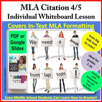 MLA Citation 4/5   Individual Whiteboard Lesson