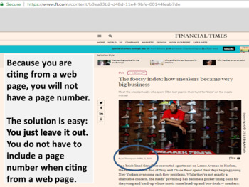 MLA Citation 5/5   Digital Notebook for Google Slides