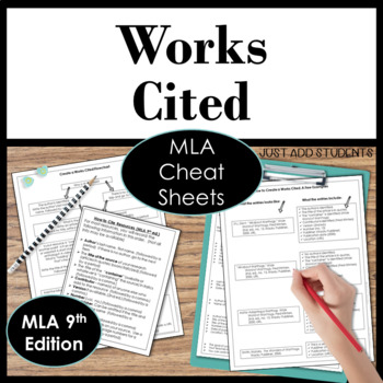 MLA Citation Works Cited  Research Writing Resource
