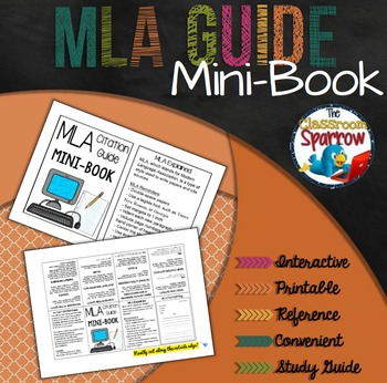 MLA Citation Guide Mini-Book (A Perfect Addition to an ELA Interactive Notebook)
