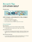 MLA Citation Help Page