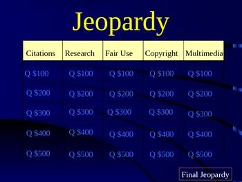 MLA Citation Jeopardy
