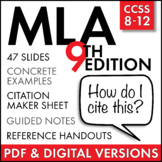 MLA Citation Lecture & Handouts, MLA 8th Edition, in-text citation & works cited