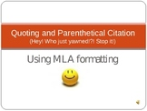 MLA Citation Made Easy PowerPoint - How to Cite Quotes and