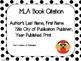 MLA Citation Posters - 7th Edition
