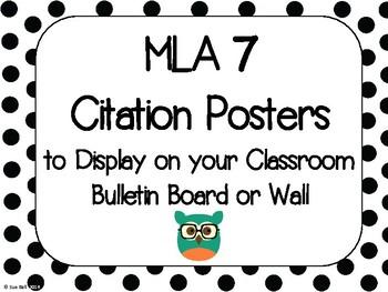 MLA Citation Posters