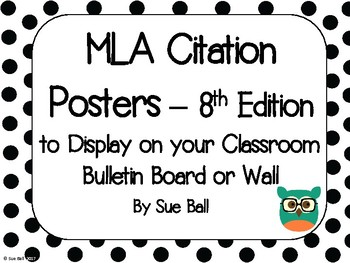 MLA Citation Posters - 8th Edition