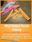MLA Citation Puzzle Activity: Works Cited Bibliography Page