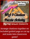 MLA Citation Puzzle Activity Second Edition: Works Cited Bibliography Page