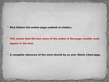works cited rules