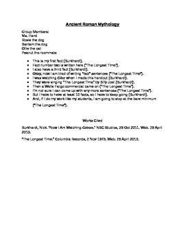 MLA Citations Information Sheet and Sample Notes