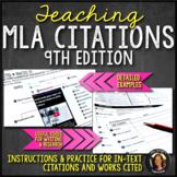 MLA Format Citations, Instructions, Practice, & Examples