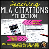 MLA Style & Format 9th Ed: Instruction, Practice, Examples