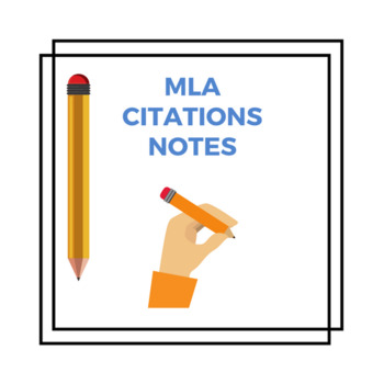 MLA Citations Notes (based on YouTube Video)