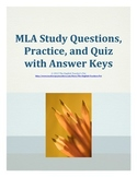 MLA Citations Study Guide Questions, Practice and T and F Quiz with Answer Keys