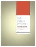 MLA Citations Workshop