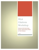 MLA Citations Workshop